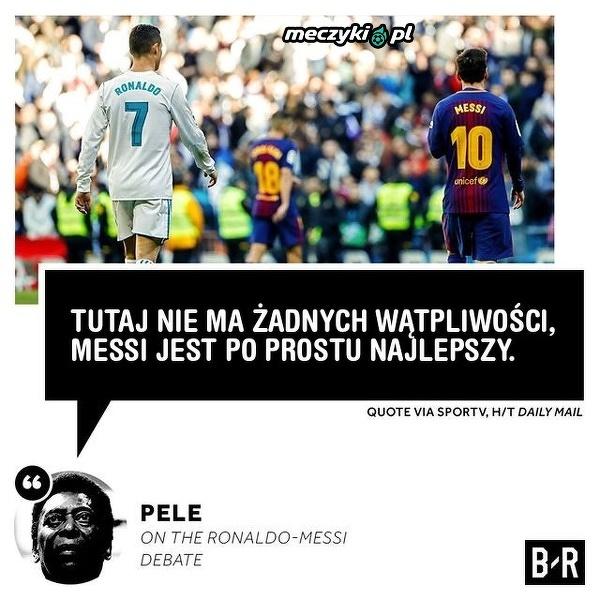 Pele wybrał pomiędzy Messim a Ronaldo