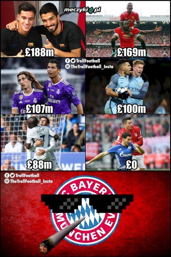 Bayern Monachium, wychodzi na transferach najlepiej.