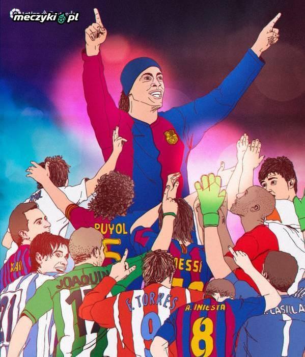 Piękna grafika LaLiga żegnająca Ronaldinho
