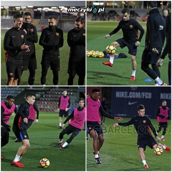 Pierwszy trening Coutinho z całą drużyną