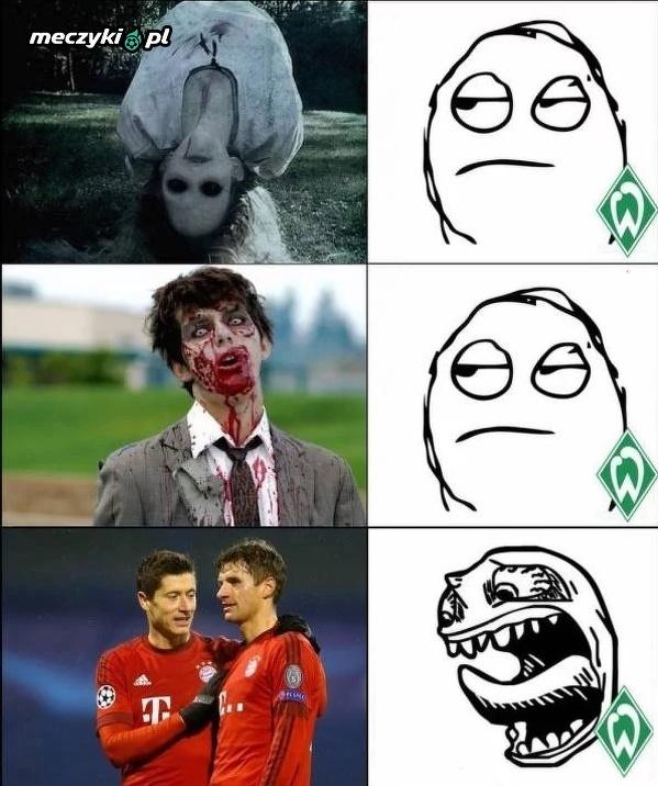 Duet Lewandowski - Muller postraszył Werder