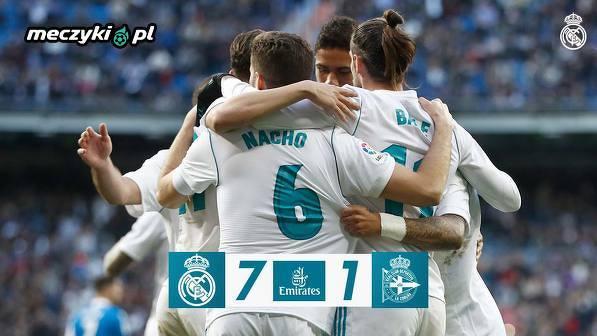 Real deklasuje Deportivo. Aż 7:1!