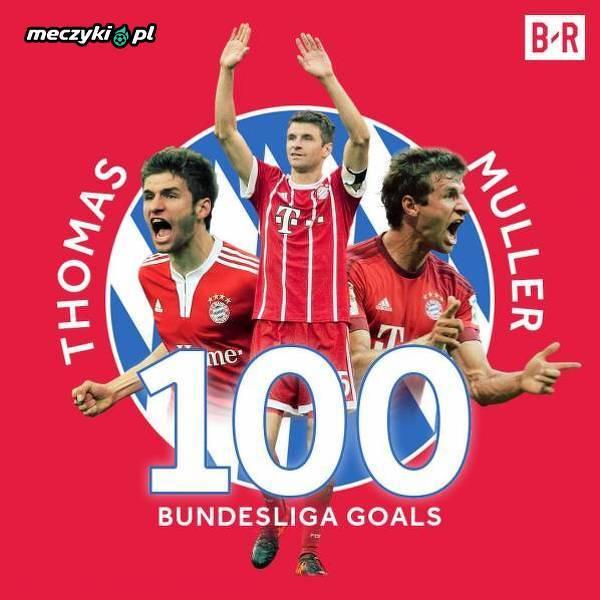 100 bramek Muellera w Bundeslidze