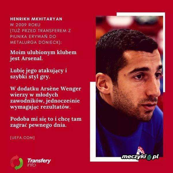 Dla tych, którzy twierdzą że transfer do Arsenalu Mkhitaryan'a to przymus