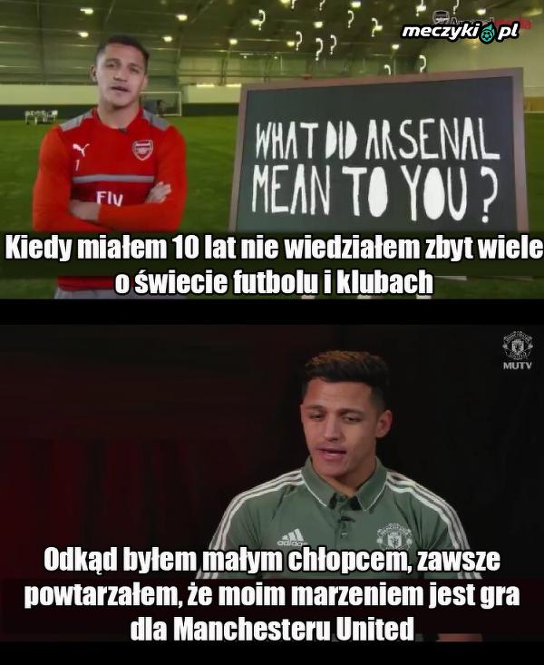Alexis o dzieciństwie - po transferze do Manchesteru United