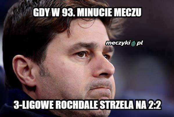 Rochdale zaskoczyło Pocchettino
