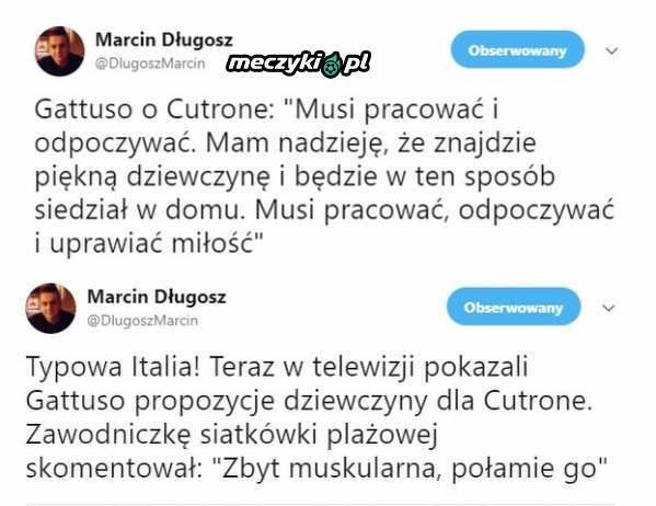 Gattuso wybiera dziewczynę Cutrone
