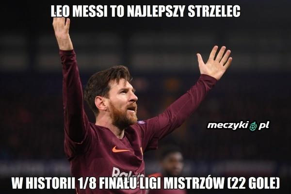 Messi ustanowił rekord w Lidze Mistrzów