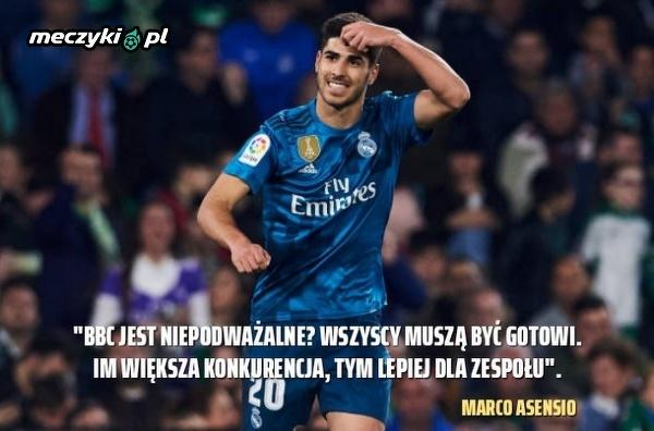 Marco Asensio wie, co jest najlepsze dla Realu Madryt.