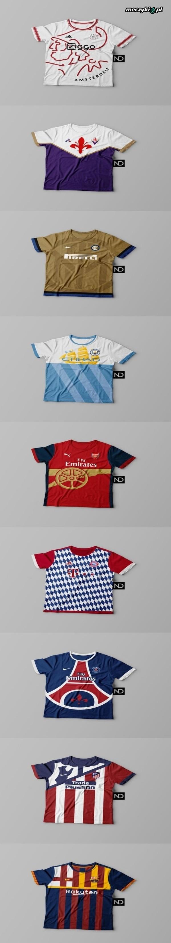 Tak wyglądałyby stroje, w oparciu na logo klubu.