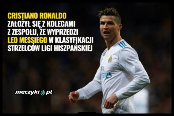 Ronaldo coraz bliżej wygrania zakładu