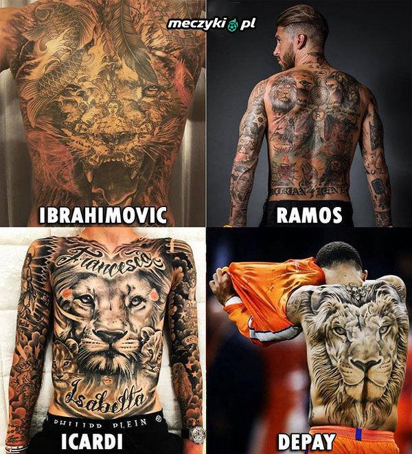 Tatuaże piłkarzy