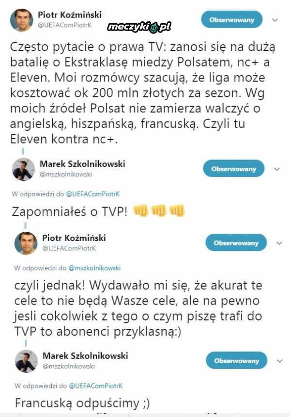 Cztery telewizje walczą o prawa do Ekstraklasy