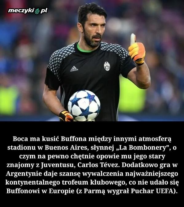 Boca Juniors chce sprowadzić Gianluigiego Buffona.