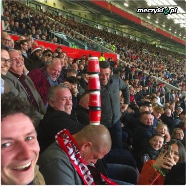 Jakiś kibic Manchesteru United na wczorajszym meczu z West Brom