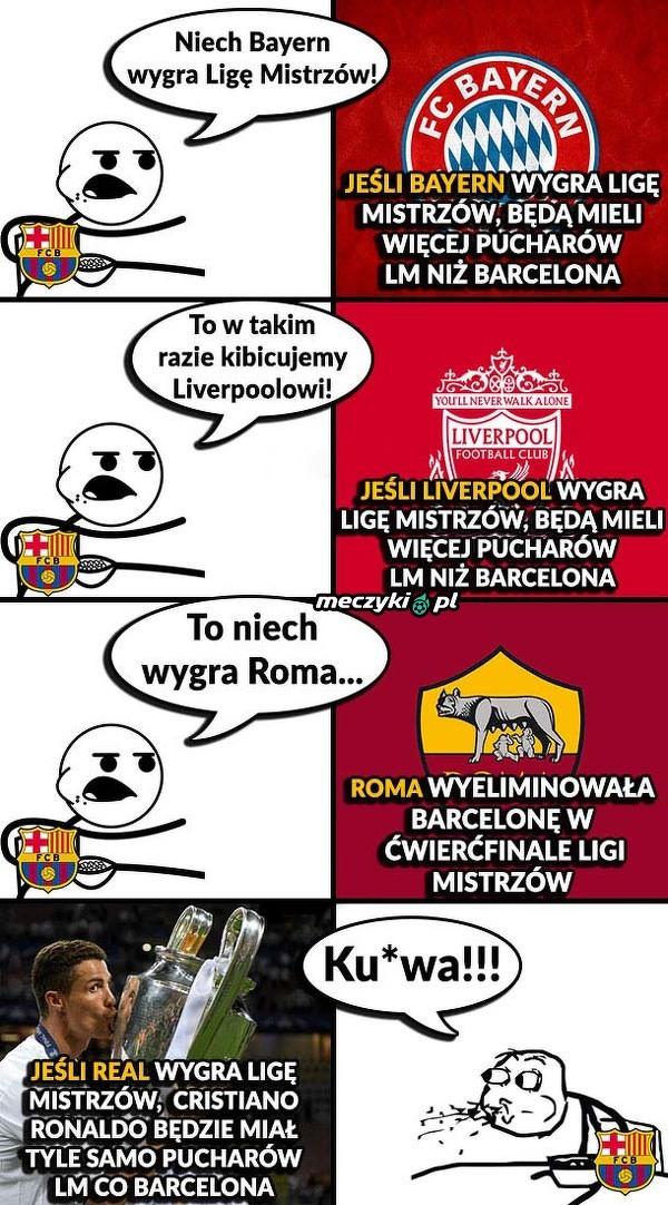Ciężki wybór fanów Barcelony