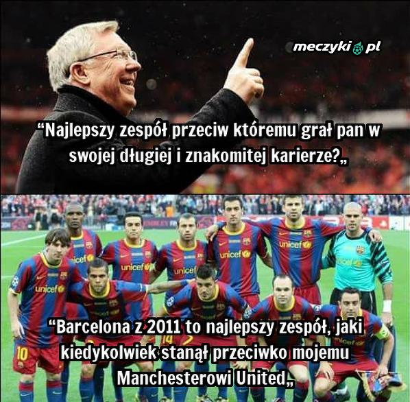Alex Ferguson o Barcelonie
