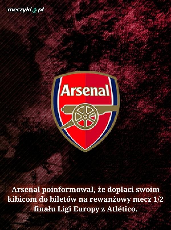 Wielki gest działaczy Arsenalu przed dwumeczem z Atlético