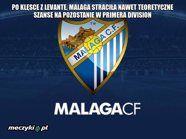 Malaga wyleciała z La Liga