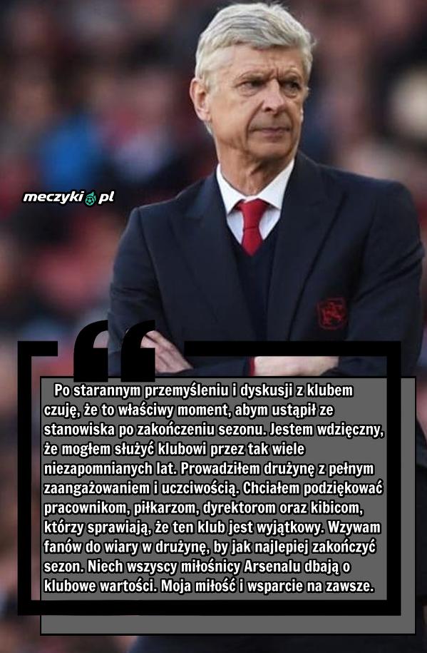 Wenger o swojej decyzji