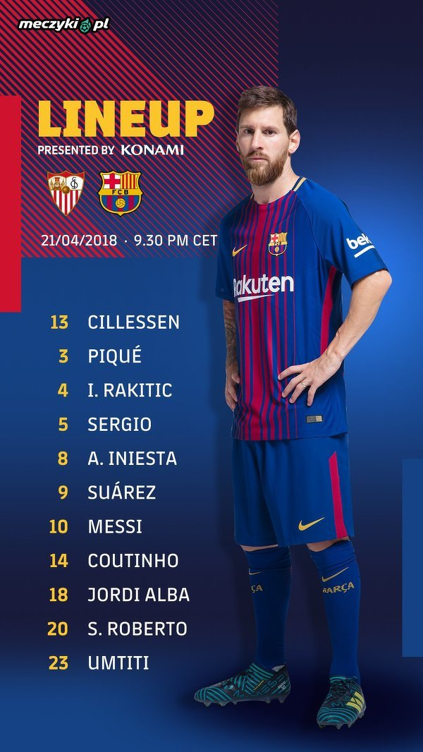 Skład Barcelony na finał Pucharu Króla