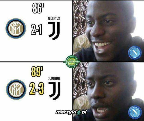 Kibice Napoli podczas meczu Inter - Juventus
