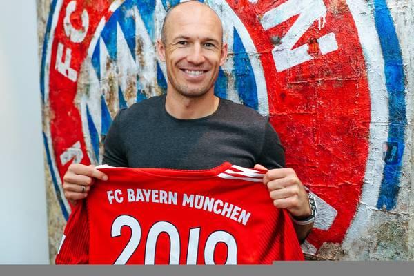 Najpierw Ribery, teraz Robben. Holender też przedłużył kontrakt z Bayernem