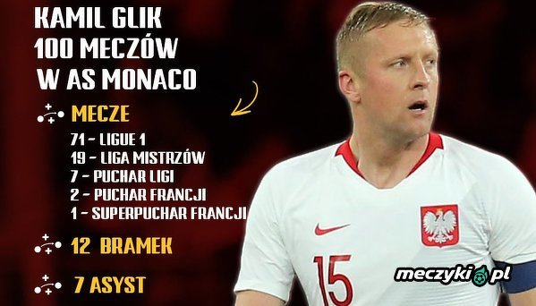 Kamil Glik rozegrał już 100 meczów w Monaco