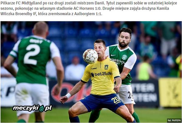 Wilczek nie zdobędzie mistrzostwa Danii