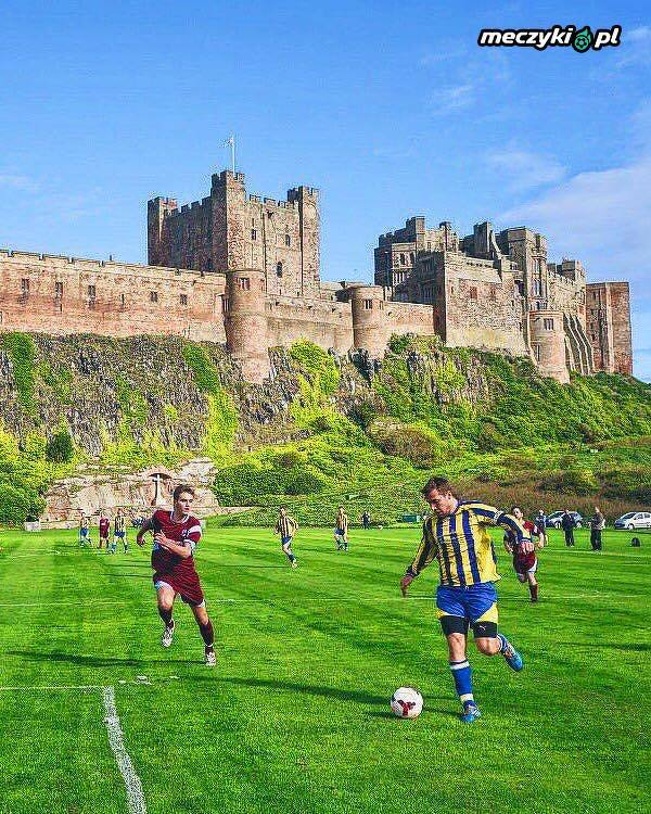 Zamek Bamburgh w Anglii