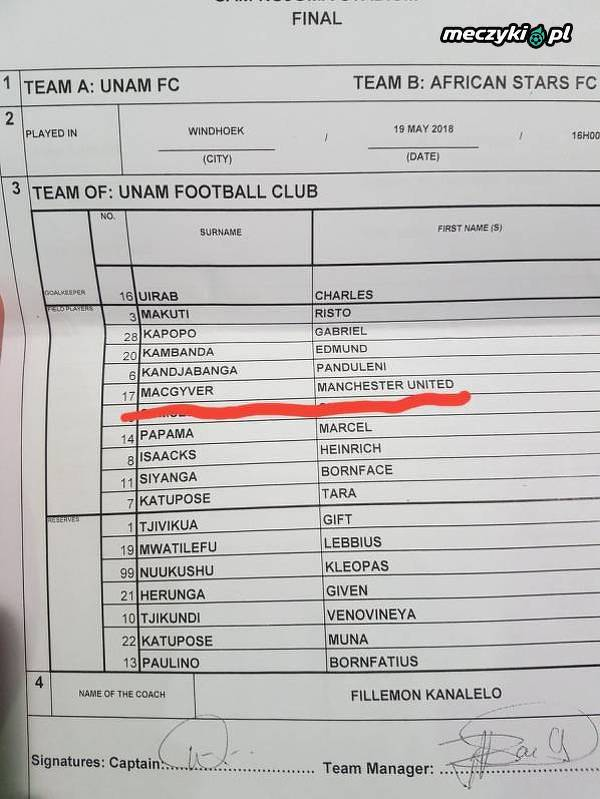 Macgyver w United ;)
