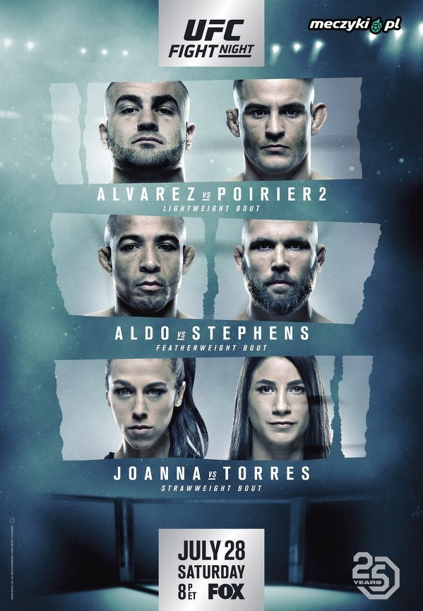 Oficjalny plakat gali UFC on FOX 30