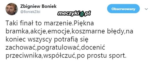 Zbigniew Boniek podsumował finał Ligi Mistrzów