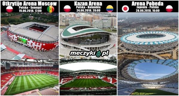 Stadiony na których zagrają Polacy na MŚ.
