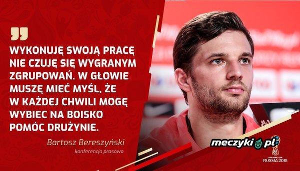 Bartosz Bereszyński o swojej roli w zespole