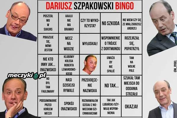 Dariusz Szpakowski bingo