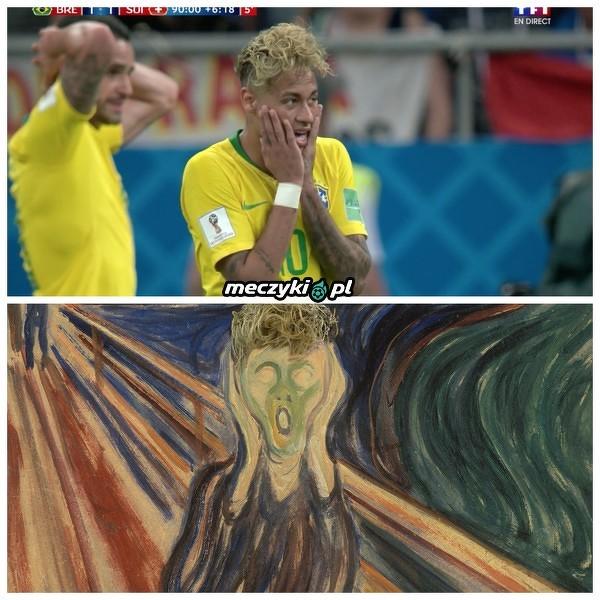 Neymar w meczu ze Szwajcarią