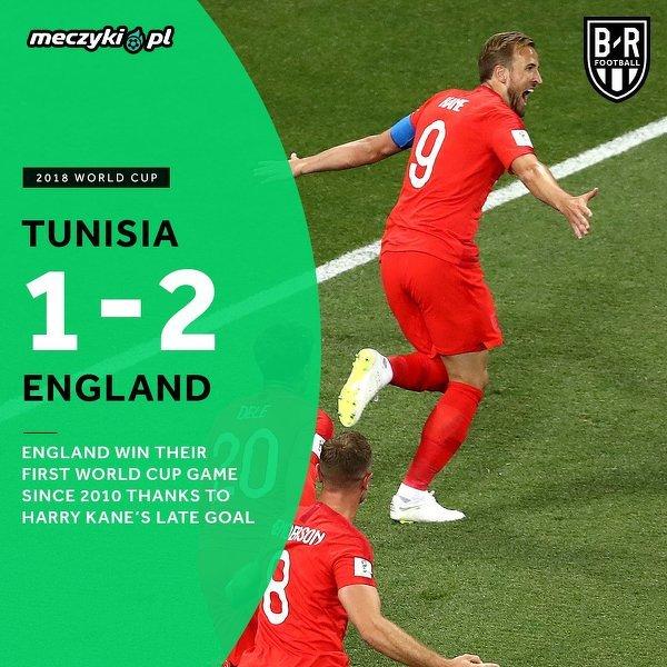 Anglia odnosi wymęczone zwycięstwo z Tunezją