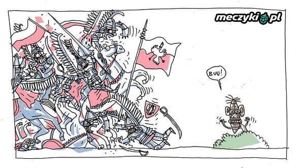 Polska vs Senegal w karykaturze