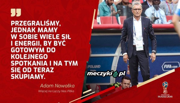 Nawałka po meczu Polska - Senegal