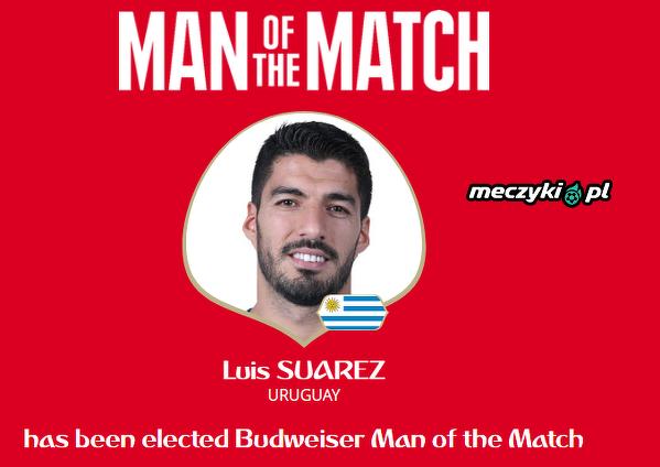 Luis Suarez wybrany piłkarzem meczu
