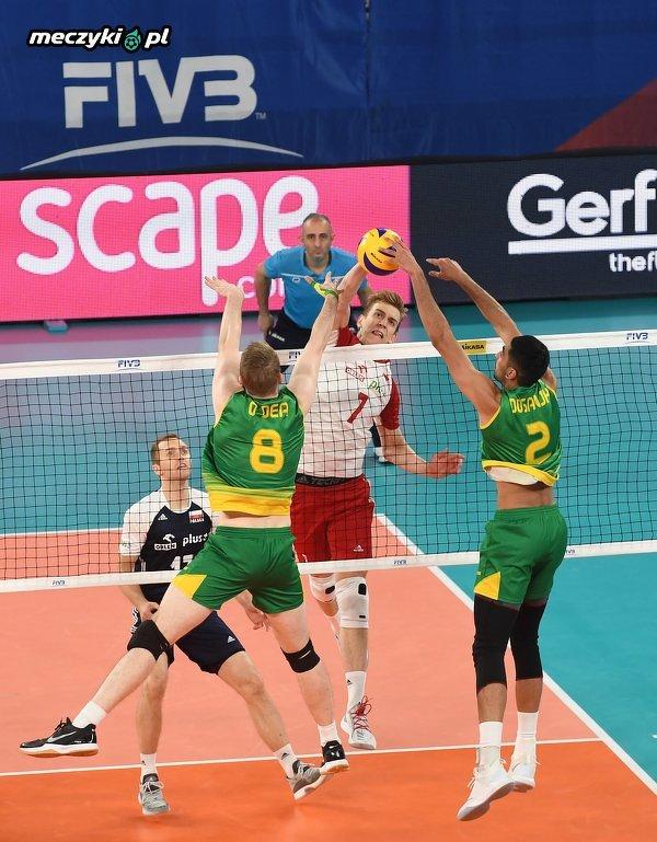 Liga Narodów Siatkarzy: Polska wygrała z Australią 3:0 i awansowała do Final Six