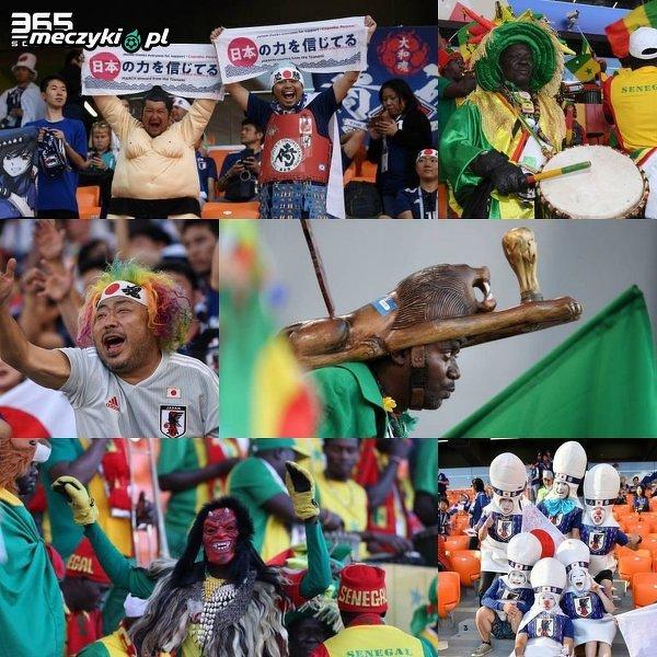Kibice Japonii oraz Senegalu