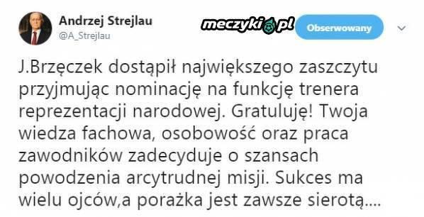 Andrzej Strejlau skomentował wybór Jerzego Brzęczka na selekcjonera