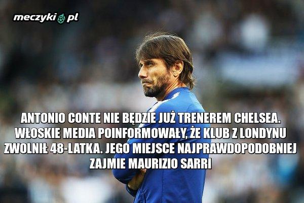 Antonio Conte odwołany ze stanowiska głównego trenera Chelsea