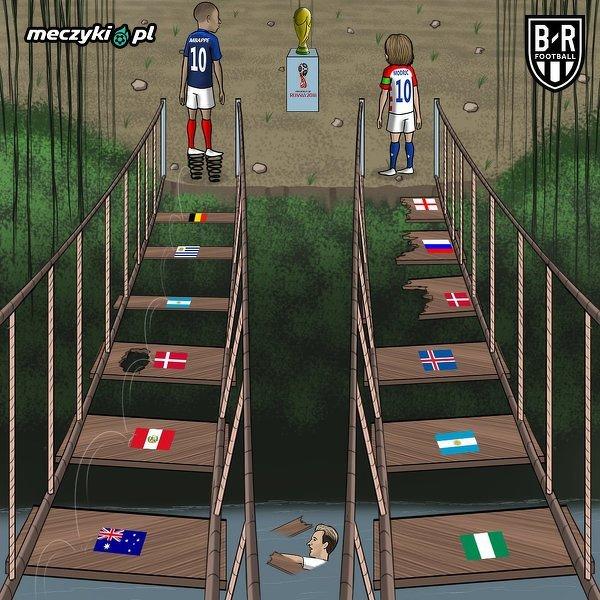 Droga Francji i Chorwacji do finału mundialu