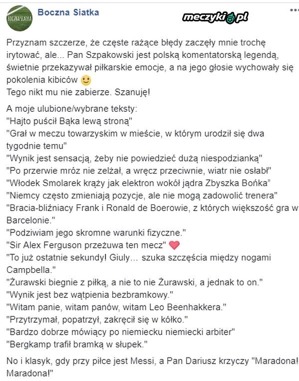 Dariusz Szpakowski - Legenda (cytaty)