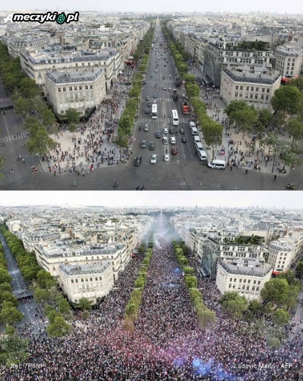 Paryż przed mistrzostwami i po