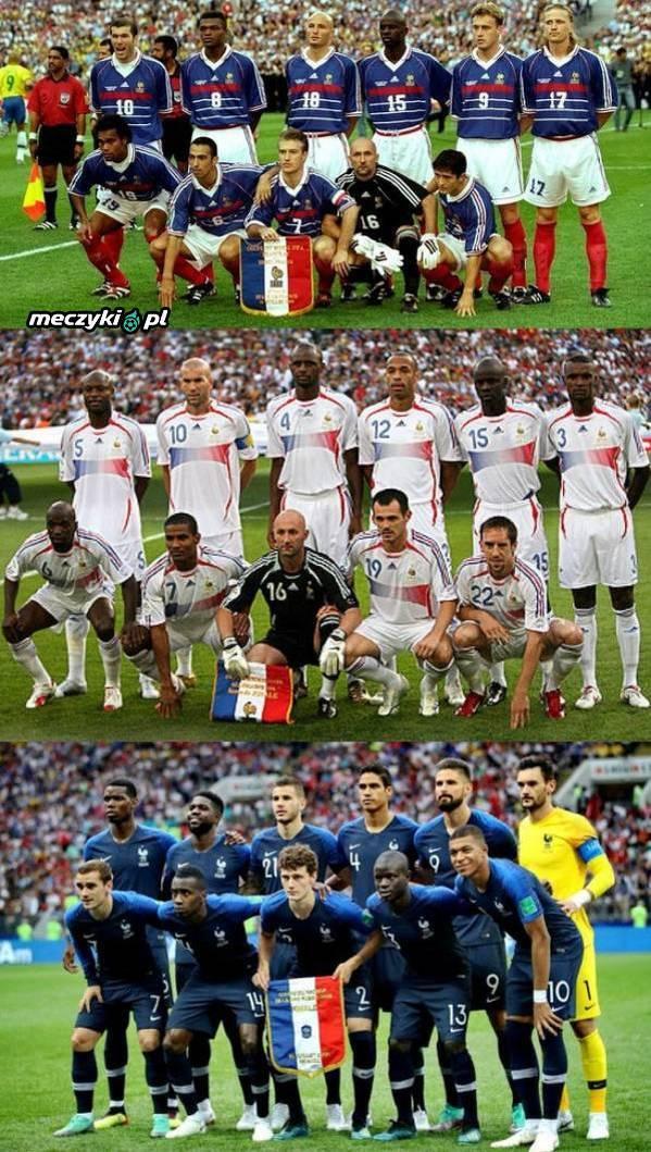 Trzy jedenastki Francji, które zagrały w finałach mundiali