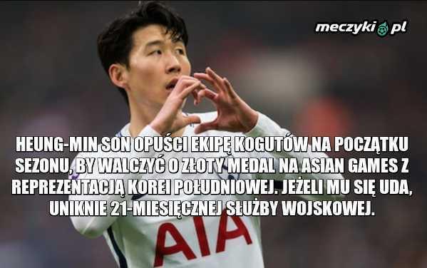 Heung-min Son opuści początek Premier League
